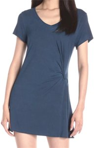 Green Dragon short dress Navy Doubles As Cover Up Knotted Waist Distressed Wash V-neck Super Soft on Tradesy
