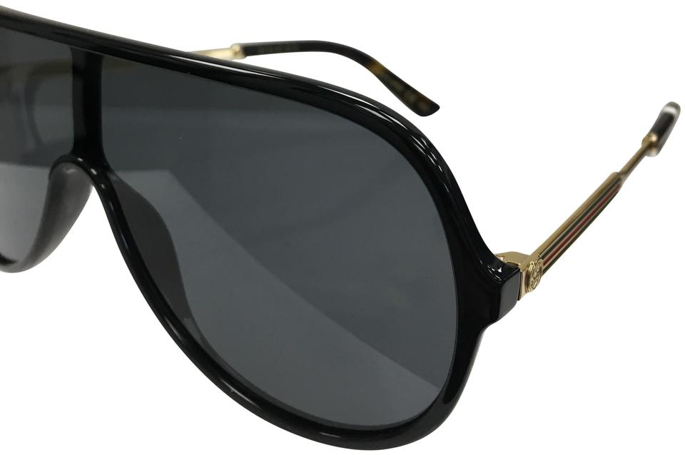 b99ca4403d8da Gucci Black-001 Sensual Romantic Women s Gg 0199s 001 Fashion Shield  Sunglasses