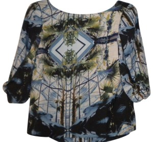 W118 by Walter Baker Back Neck 3/4 Sleeve Top Multi-Color