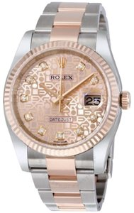 Rolex Pink jubilee steel&diamond with18k Everose gold oyster