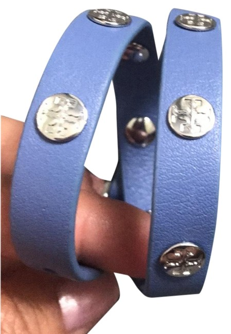 Item - Blue and Silver Periwinkle Color Never Worn Double Wrap with Bag Bracelet