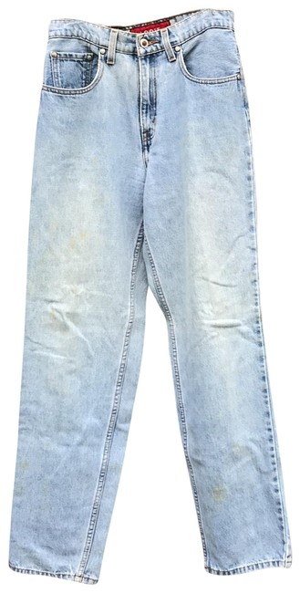 Item - Light Blue Distressed Silver Tab Loose Relaxed Fit Jeans Size 6 (S, 28)