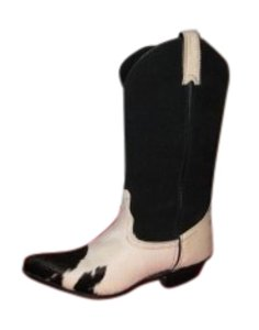 Code West Black and White Boots