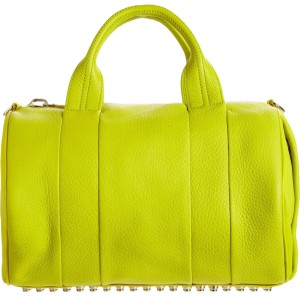 Alexander Wang Satchel in Acid Yellow