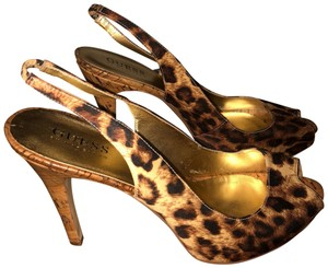 Guess Leopard Print Wedges