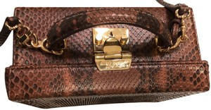 Mark Cross Python Brown Shoulder Bag