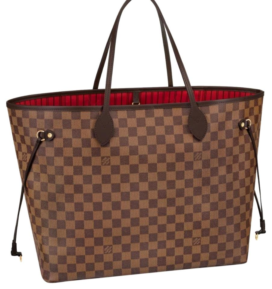 d755184174e9 Louis Vuitton Made In France Damier Ebene New 2018 Neverfull Gm Tote ...