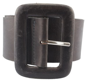 Streets Ahead Streets Ahead Grey Leather Belt, Size XS (3711)
