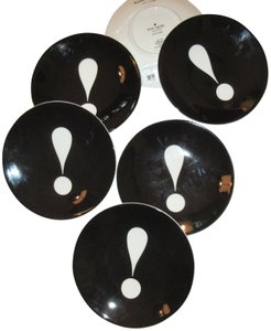 """Kate Spade Kate Spade New York """"Say the Word"""" EXCLAMATION POINT Tidbit Plates"""