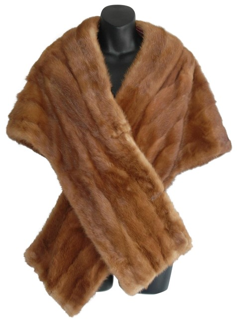 Item - Brown Vtg Mink Shawl Vest Jacket Coat Size OS
