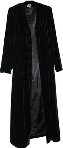 Ann Tjian for KENAR Full Length Incredible Fabric Covered Buttons Trench Coat