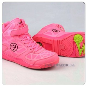 Zumba Fitness Sneakers High Top Dance Cerise Pink Athletic