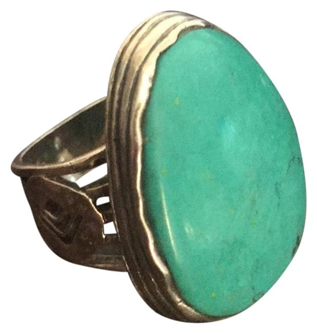 Item - Sterling Silver W/Turquoise Stone Ring