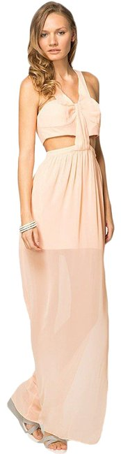 Item - Peach Bcbg Maxi Sheer Long Formal Dress Size 4 (S)