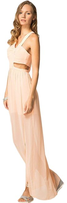 Item - Peach Bcbg Maxi Sheer Long Formal Dress Size 6 (S)