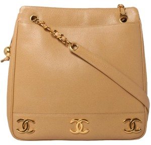 65cd34f3258a Chanel Beige Bags - Up to 70% off at Tradesy