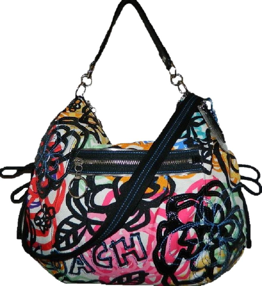 21edc3aa0027 Coach Poppy Graphic Blossom Floral Convertible Jazzy Bag~ Multicolor ...