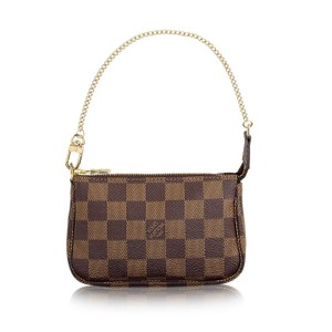Louis Vuitton Pochette Mini Wristlet in Damier Ebene