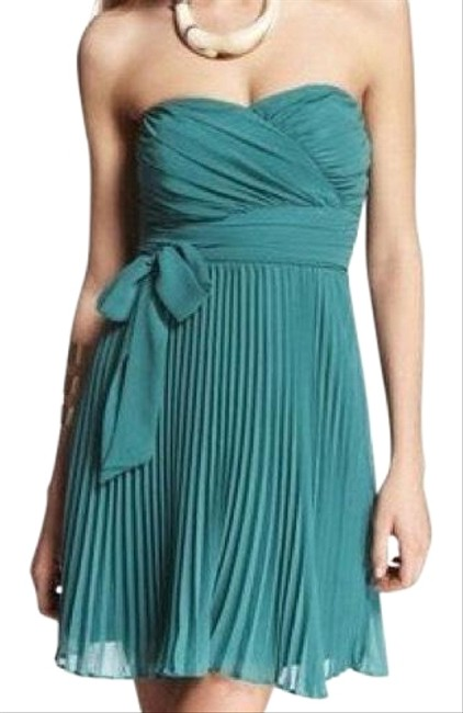 Item - Green Sexy Strapless Short Night Out Dress Size 4 (S)