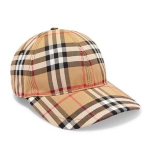 Burberry check cotton baseball hat