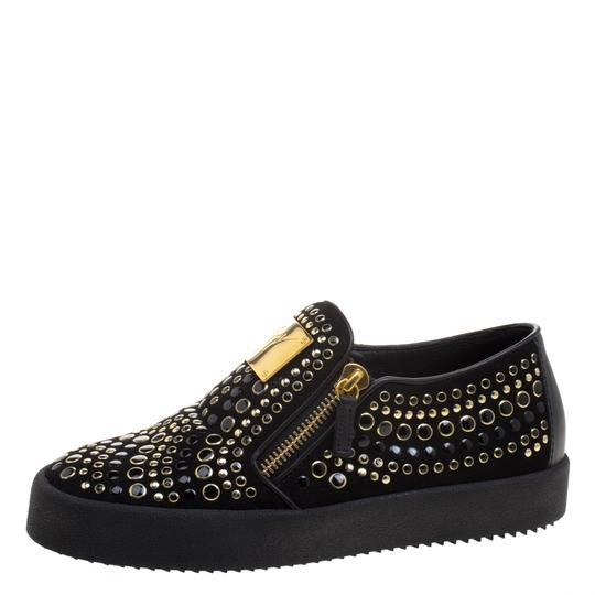 Preload https://img-static.tradesy.com/item/23499911/giuseppe-zanotti-black-stud-embellished-suede-eve-slip-on-sneakers-flats-size-eu-40-approx-us-10-reg-0-0-540-540.jpg