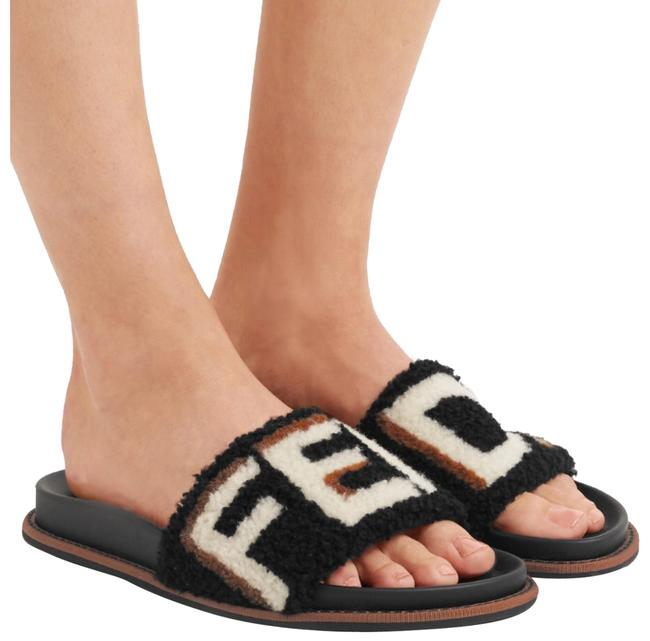 Fendi Logo Shearling Fur Slides Sandals Size EU 35 (Approx. US 5) Regular (M, B) Fendi Logo Shearling Fur Slides Sandals Size EU 35 (Approx. US 5) Regular (M, B) Image 1