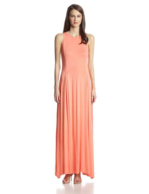 Item - Pink Coral Open Back Long Casual Maxi Dress Size 2 (XS)
