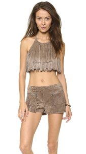BCBGMAXAZRIA Brown Halter Top
