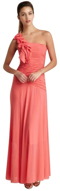Item - Pink One Shoulder Coral Gown Long Formal Dress Size 6 (S)