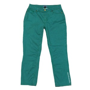 Cynthia Rowley Capris Green Blue White