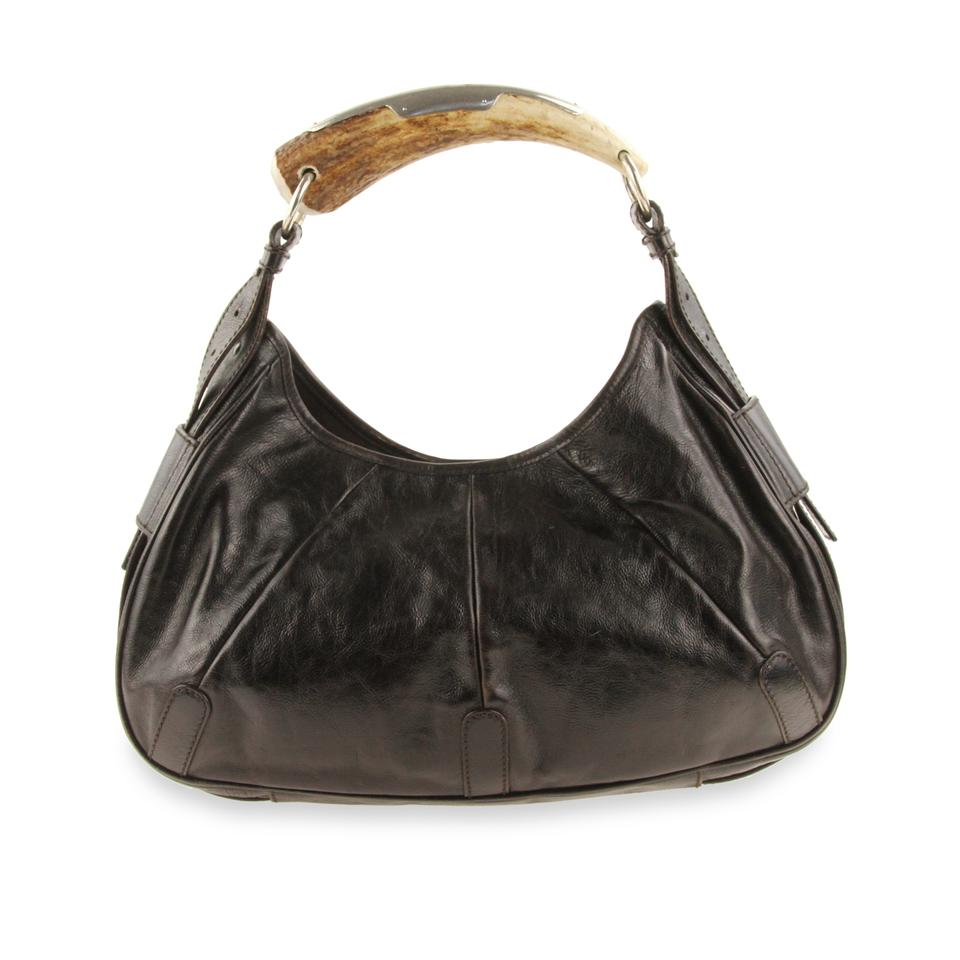 adc872b08d Saint Laurent Yves Patent Leather Horn Mombasa Shoulder Bag Image 0 ...