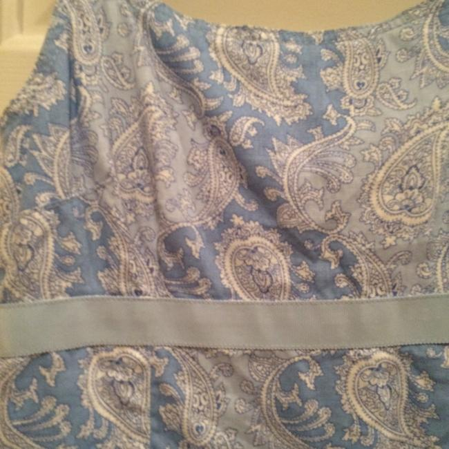 Tommy Hilfiger Empire Waist With Ribbon Paisley Top Blue