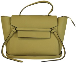 Céline Belt Mini Belt Belt Belt Satchel in Vanilla
