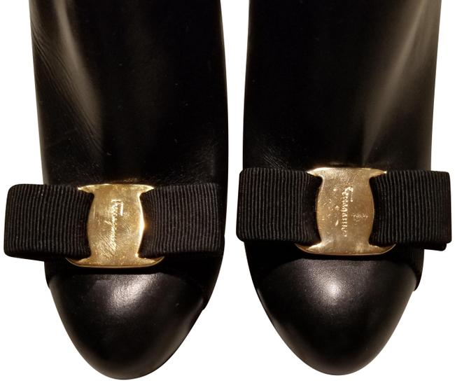 Item - Black with Gold Ribbon Boots/Booties Size US 5.5 Narrow (Aa, N)