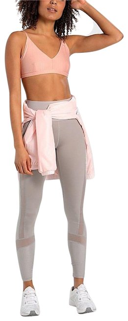 Item - Gray/Silver/Grey Compression Athletic Long Stretchy Shimmering Yoga Pants Activewear Bottoms Size 18 (XL, Plus 0x)