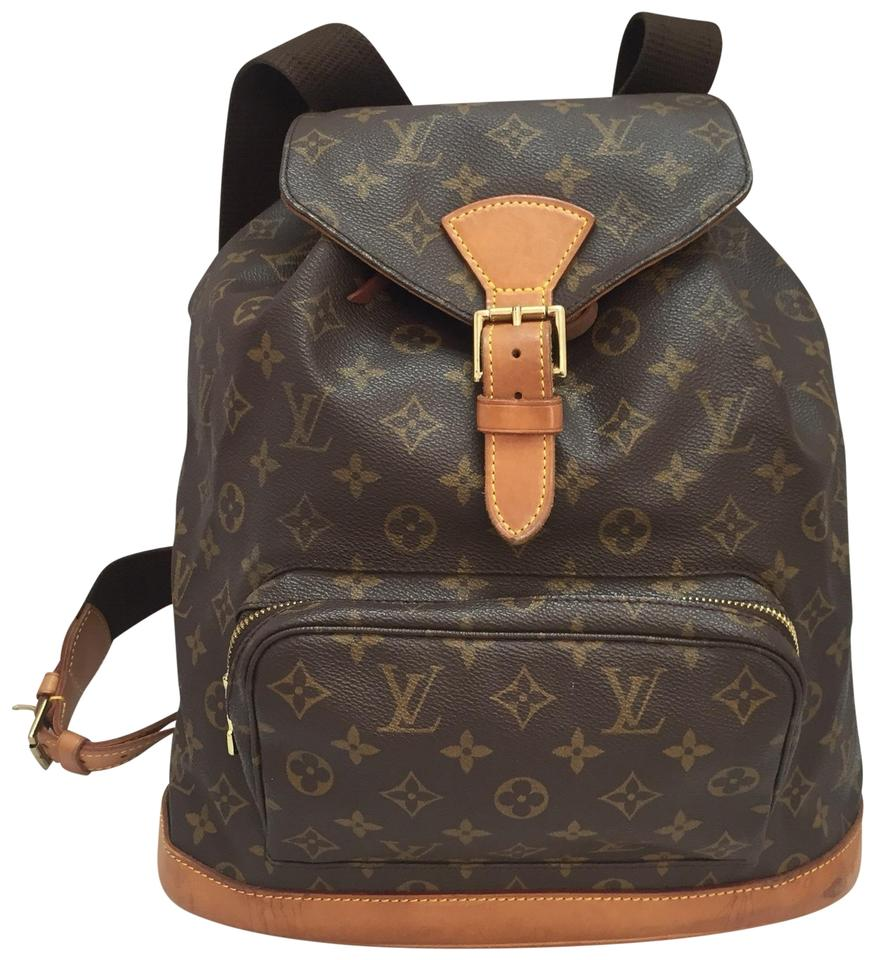 769cf2e15dde7 Louis Vuitton Montsouris Gm Discontinued and Sold Out Brown Monogram Canvas  Backpack