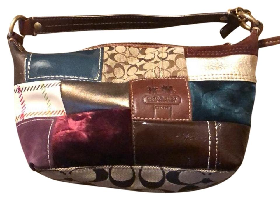 de1fbb1c2362 Coach Small Never Used Multicolor Leather and Fabric Clutch - Tradesy