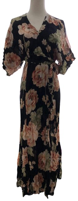Item - Black and Multi Winslow Tie Long Formal Dress Size 8 (M)