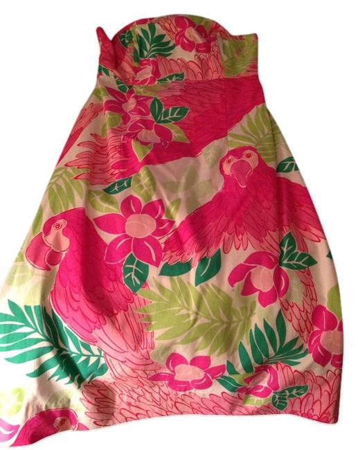 Lilly Pulitzer Bright Pink Strapless Summer Knee Length Cocktail Dress Size 6 (S) Lilly Pulitzer Bright Pink Strapless Summer Knee Length Cocktail Dress Size 6 (S) Image 1