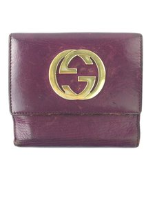 Gucci Gucci Dark Purple Compact Wallet