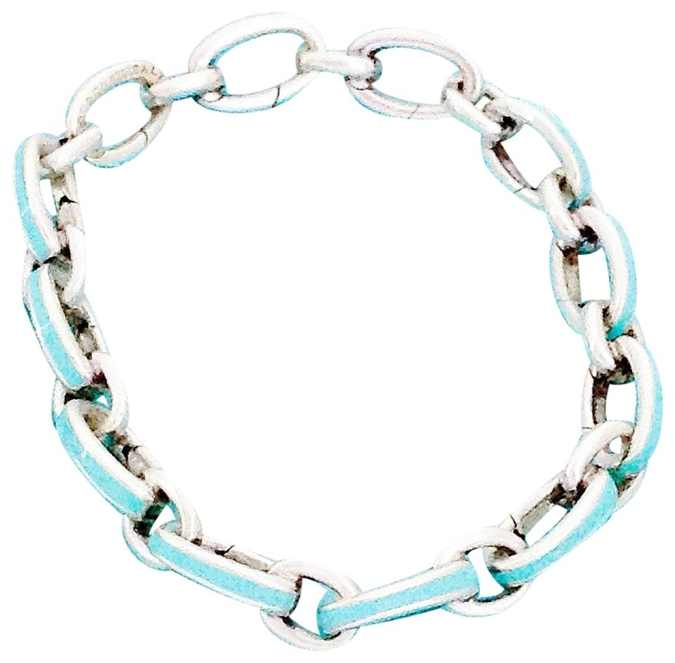 a33734c2568a0 Tiffany & Co. Clasping Link Silver with Blue Enamel Finish Bracelet 24% off  retail