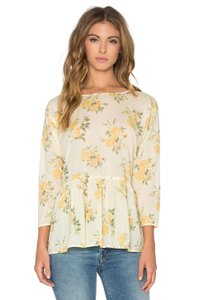 The Great. Top Yellow Floral