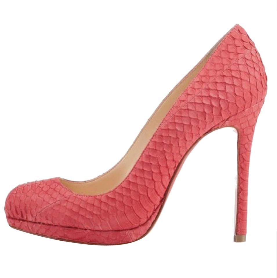 san francisco 092fd d7233 Christian Louboutin Pink Neofilo 120mm Red Watersnake Pumps Size US 6  Regular (M, B) 46% off retail