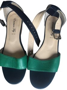 Emerson Fry blue and green Wedges