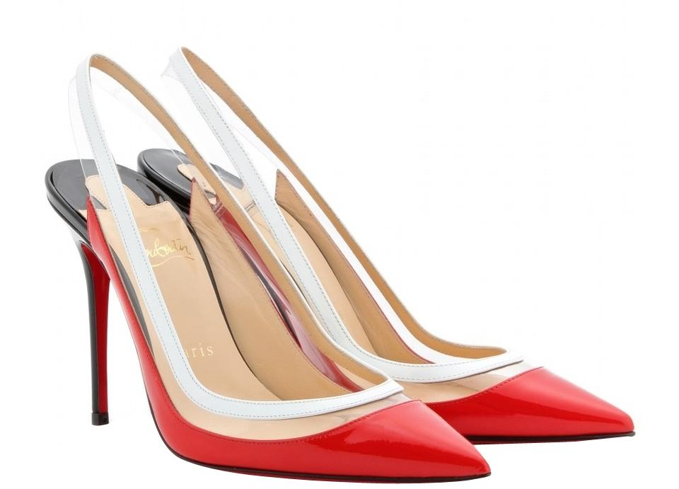 Christian Louboutin Leather Red Patent Leather Louboutin Paulina Slingback Pumps c93abe