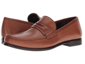 Salvatore Ferragamo Men Connor 10 Loafers Brown Flats