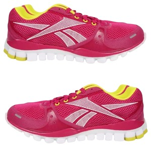 Reebok fuchsia with yellow accents Athletic