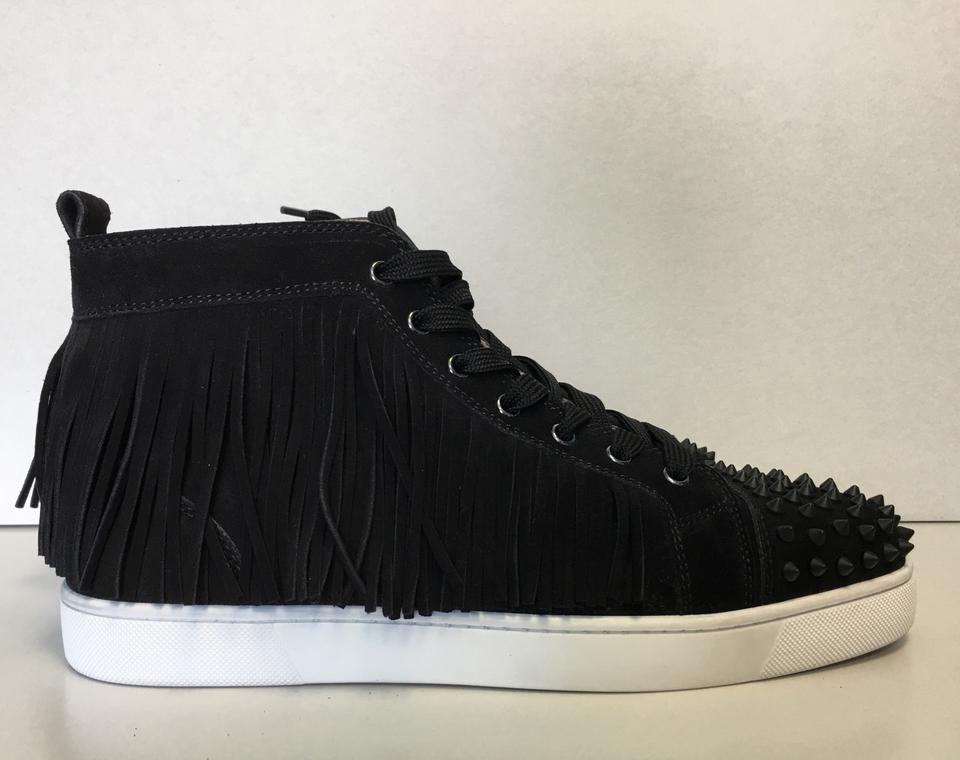 Suede Sneakers Fringed Men's Leather Coachelito Louboutin Trainers Black Classic Christian wFY6HqH