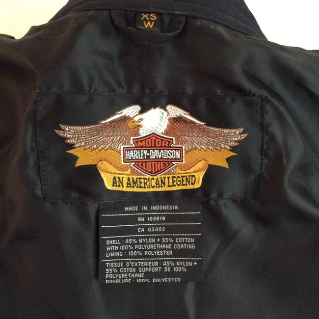 Harley Davidson Embroidered Logos Front And Zipper Outside And Inside Motorcycle Jacket