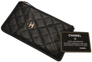 Chanel Chanel Black Lambskin Wallet Phone Case *NEW IN BOX* from Paris